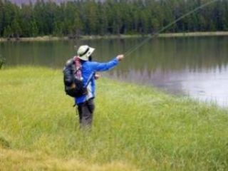 Fishing From a Backpack