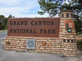 Grand Canyon National Park: East Entrance Sign 5189