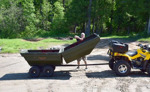 Clamshell Trailer Doubles as a Boat