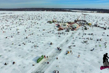 10,000 Anglers Attend Largest Ice Fishing Contest