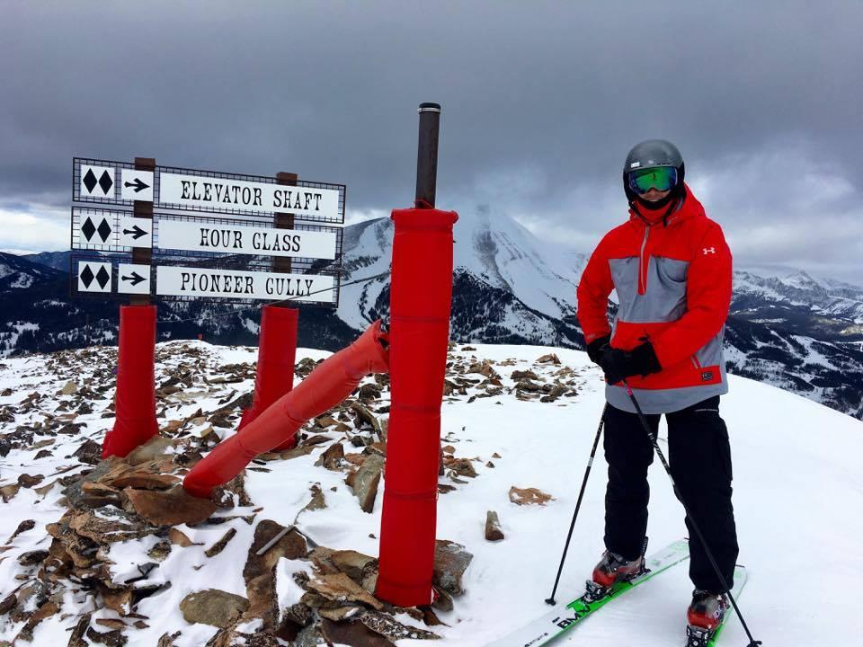 Tom Brady skiing