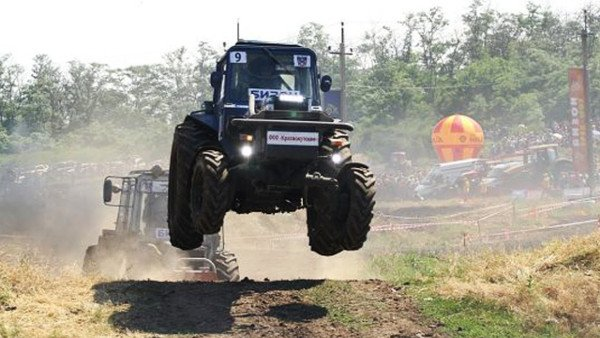 russian tractor race