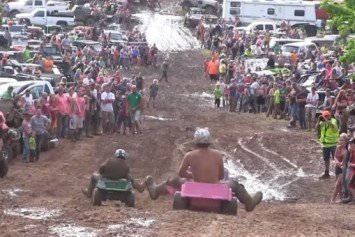 Watch These Dads Race Barbie Jeeps