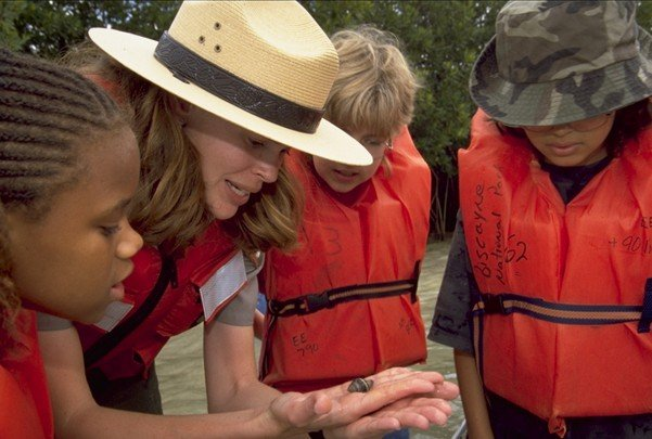 Biscayne_National_Park_H-ranger_kids_hermit_crab