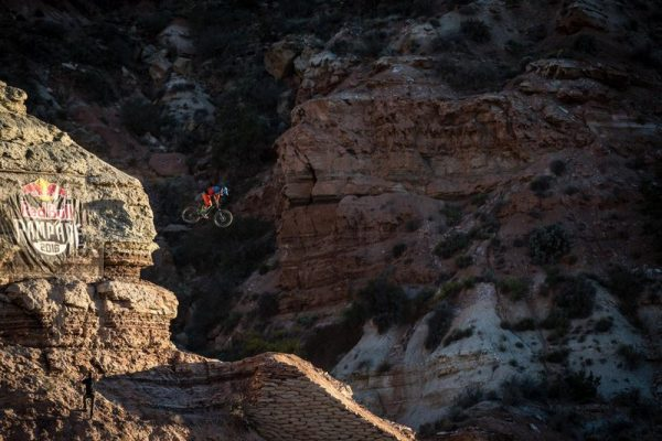 Darren Berrecloth rides during Red Bull Rampage in Virgin, UT, USA on 11 October, 2016.