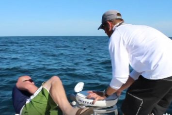 Goliath Grouper Drags Angler Overboard