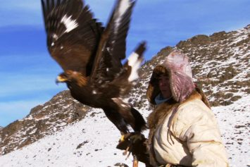 Watch Kazakh Hunters Practice Ancient Technique of Falconry