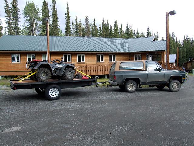 Use blocks and parking break