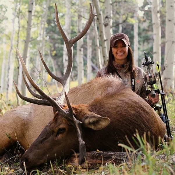 Sexy Woman Hunts For Elk